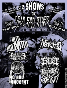 NECROTTED + DEAD LIKE SWANSEA + EXILED + IN CASE OF TOMORROW + SKROTUM
