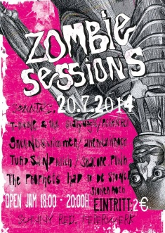 ZOMBIE SESSIONS: GROUNDSWIMMER +  THE PROPHETS HAD TO BE STONED + THE SCALLYWAGS + Turd Sandwich