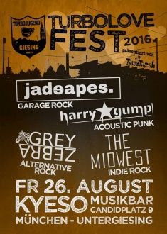 Jadeapes, Harry Gump, The Midwest, Grey Zebra @ Kyeso