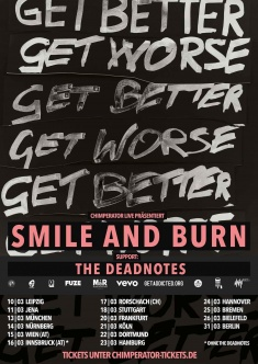 SMILE AND BURN, THE DEAD NOTES @ Feierwerk