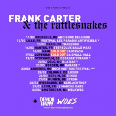 Frank Carter & The Rattlesnakes, Demob Happy, Woes @ Strom